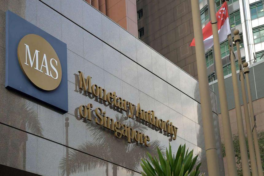 The Monetary Authority of Singapore (MAS) building in Shenton Way.