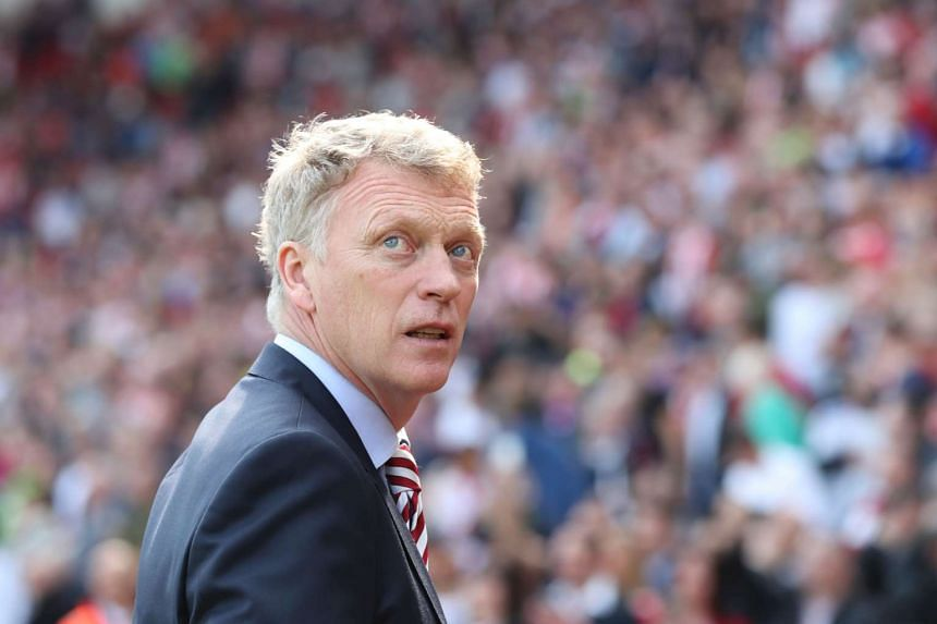 Moyes' (above) Sunderland are in a scrap for Premier League survival.