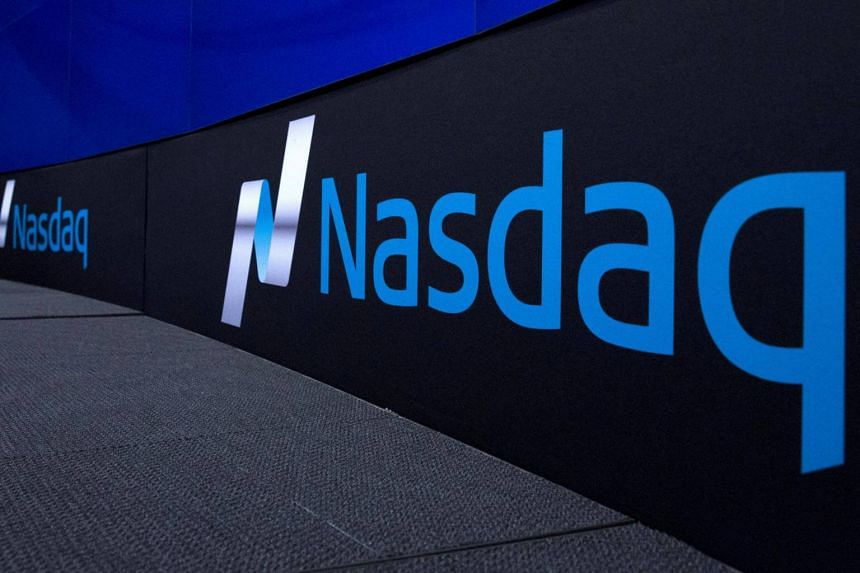 The tech-heavy Nasdaq rose as much as 0.4 per cent to hit a record level of 6,007.72 helped by gains in Biogen and Apple.