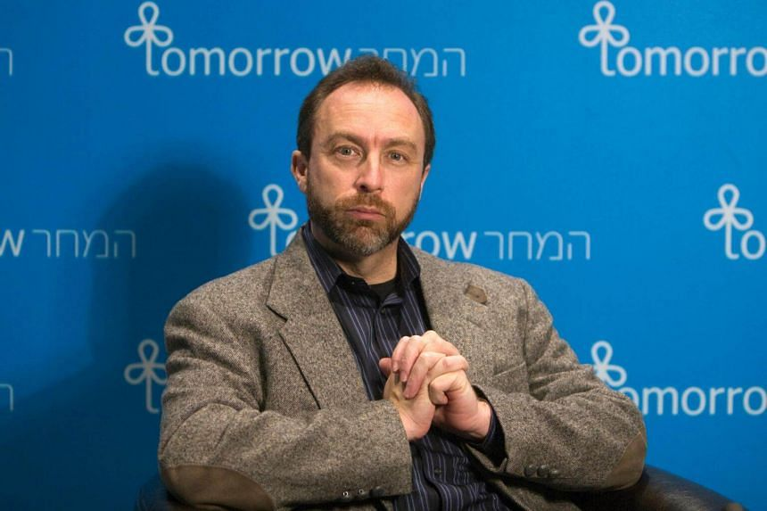 Jimmy Wales, founder of the user-edited online encyclopedia Wikipedia, in a file photo from 2009.