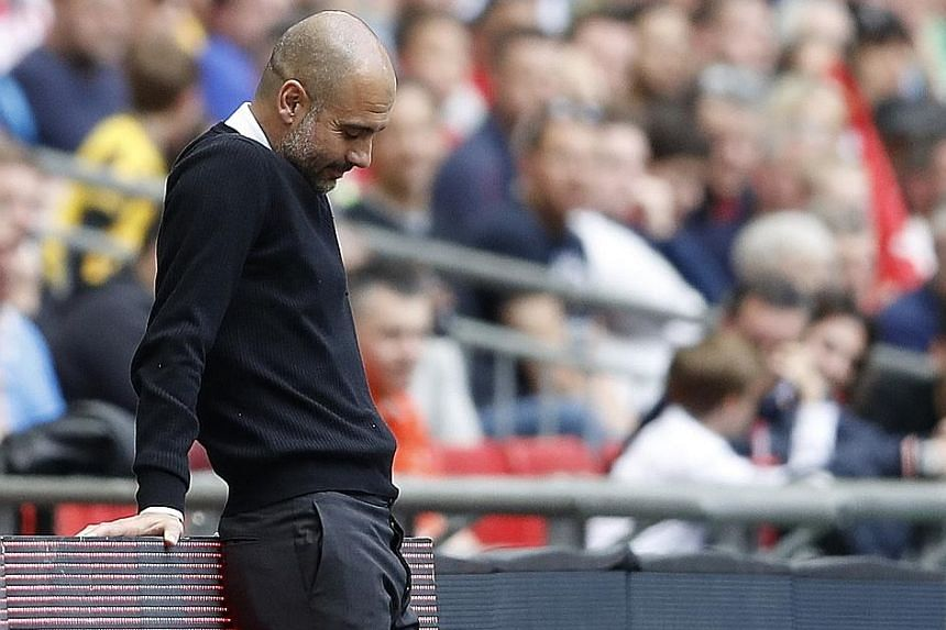 The rival managers' body language says it all during Arsenal's 2-1 victory against Manchester City in the FA Cup semi-final last Sunday. While several Gunners said the win showed their faith in the Frenchman, a disappointed Guardiola must regroup for