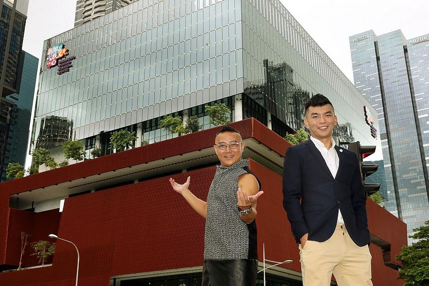 Highlights of the SCCC Cultural Extravaganza include Sing, a concert led by Chingay Parade artistic director Fan Dong Kai (left), and Voyage, a multimedia musical by filmmaker Royston Tan. The 11-storey Singapore Chinese Cultural Centre in Shenton Wa