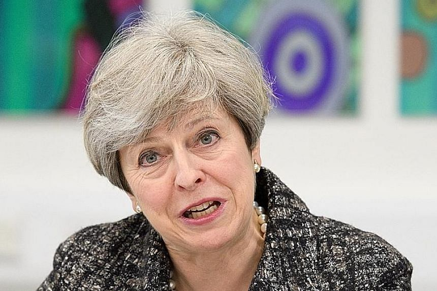 Some polls have given British Prime Minister Theresa May a more than 20-point lead before the June 8 vote.