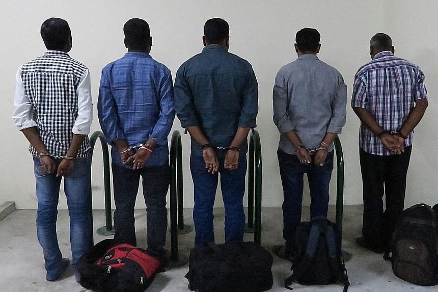 The five Indian nationals abused the eTRS scheme by making claims for jewellery they did not buy. Only $5,434.95 worth of tax refunds made to the men have been recovered.