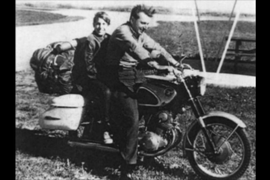 Author Robert M. Pirsig and his son Chris in 1968.