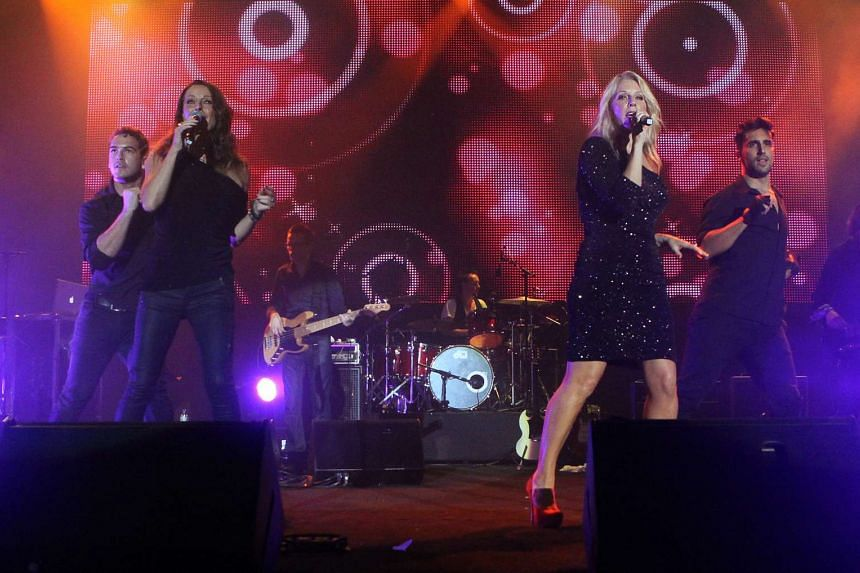 Bananarama performing in Fort Canning Park on Oct 8, 2011.
