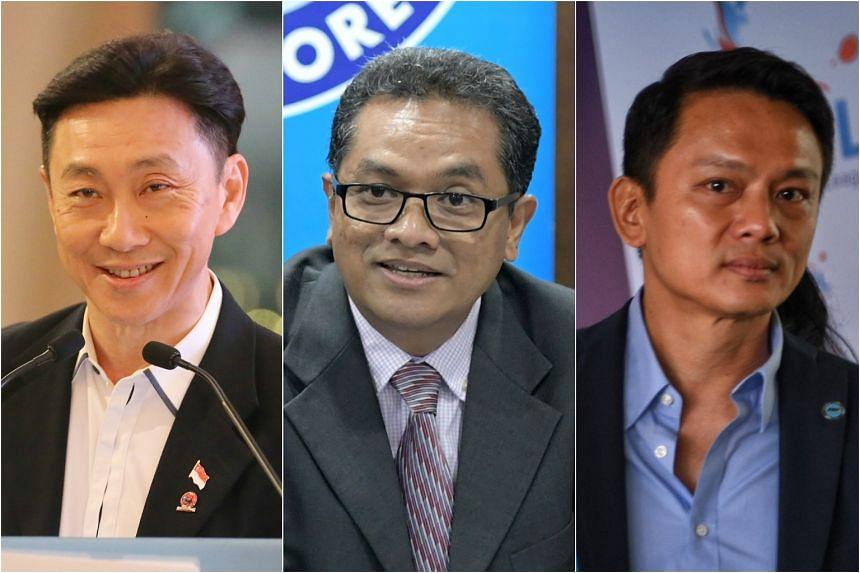 Bill Ng, Zainudin Nordin and Winston Lee.