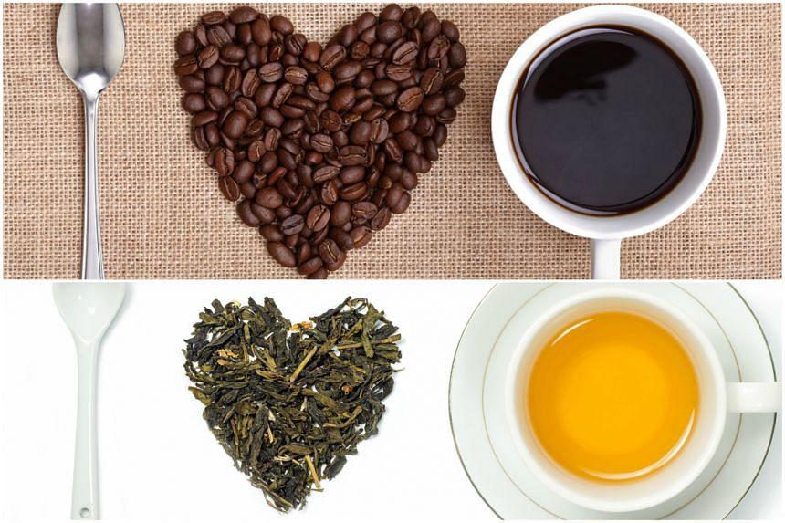 Coffee vs tea.