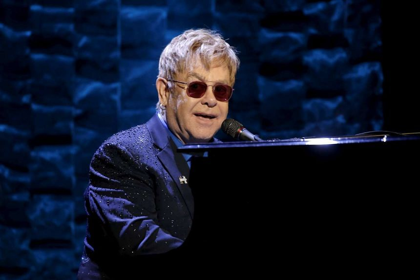Elton John performing in New York City, on March 2, 2016.