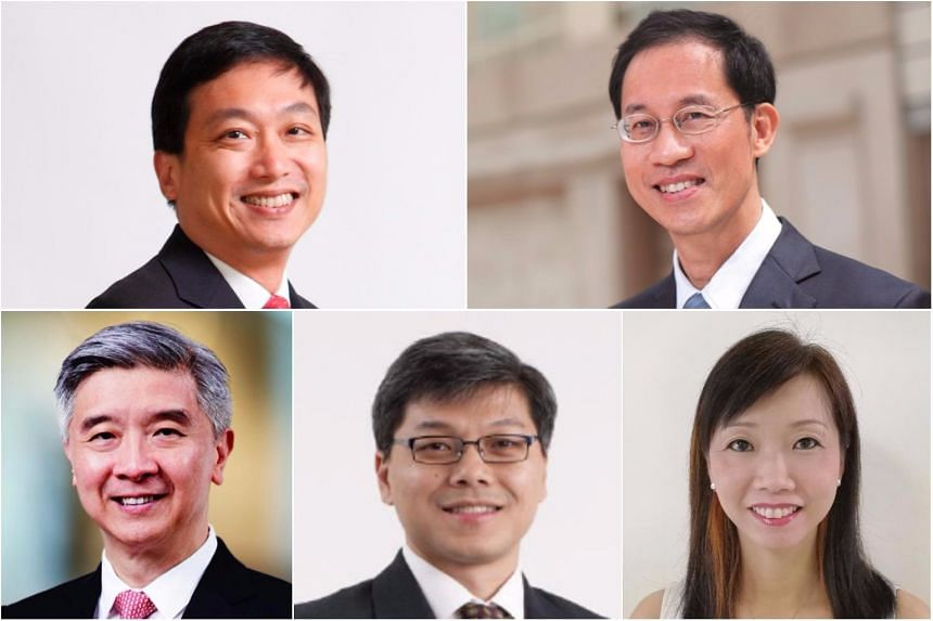 (Clockwise from top left) New CEO, CapitaLand Singapore Ronald Tay Boon Hwee; new senior advisor, group strategy, CapitaLand Wen Khai Men; new CEO, Ascott Residence Trust Management Ltd (ARTML) Beh Siew Kim; new CEO, CapitaLand Mall Trust Management