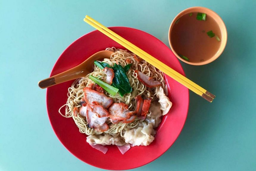 Wonton noodles from Dover Road Kai Kee Wanton Mee. PHOTO: ST FILE