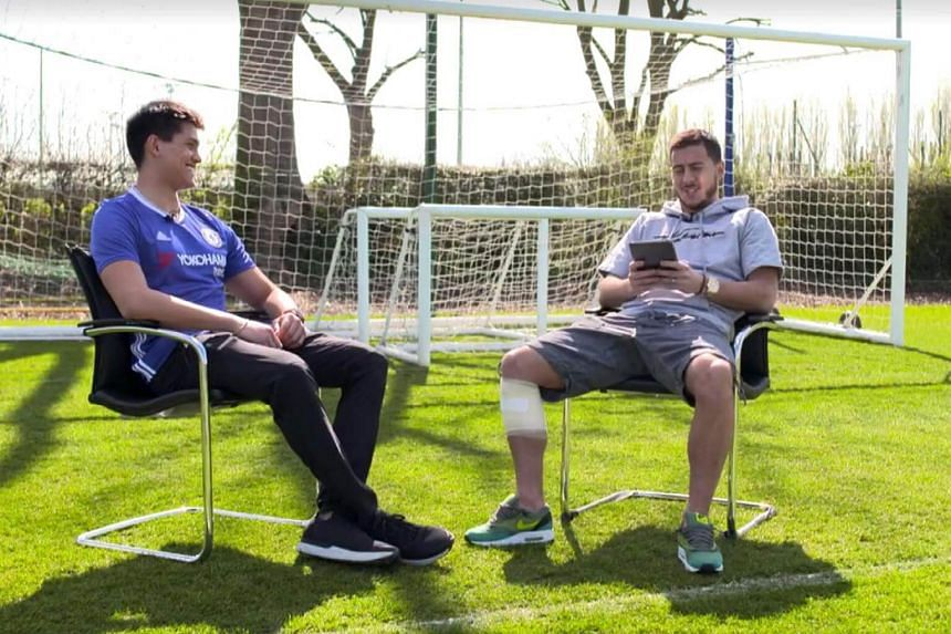 Olympic swimmer Joseph Schooling sits down for a one-on-one chat with his idol Eden Hazard.