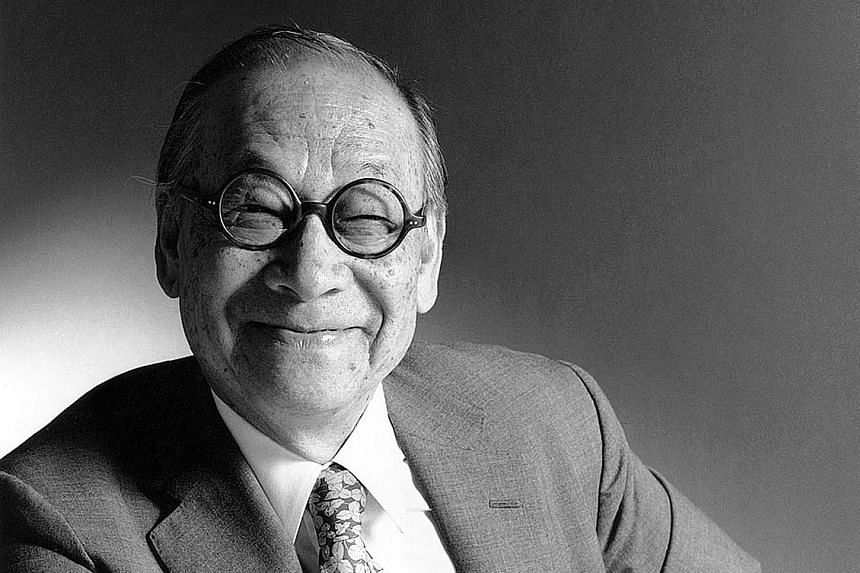 Designs by I.M. Pei (above).