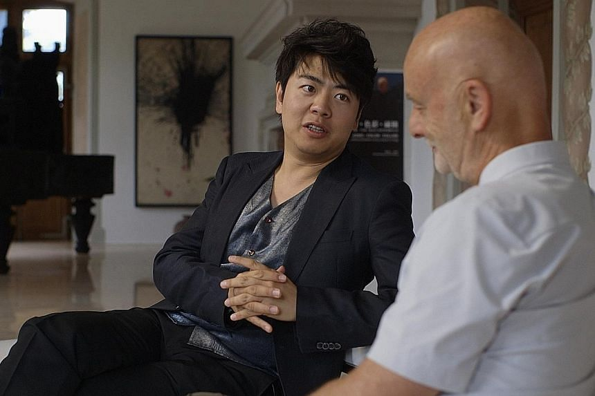 Art collector Uli Sigg with pianist Lang Lang in The Chinese Lives Of Uli Sigg.