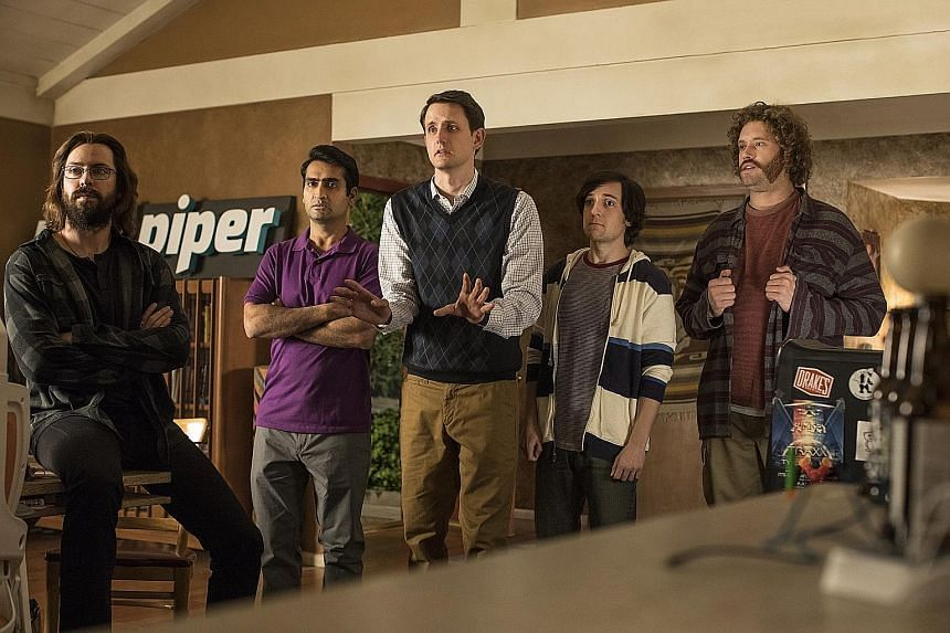 Viewers are drawn to the underdog story of would-be entrepreneurs in the series Silicon Valley.