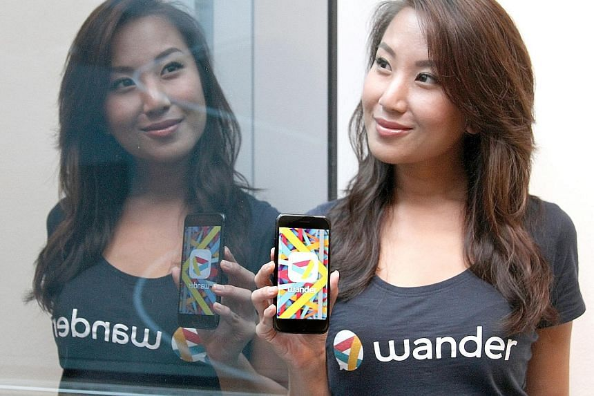 Developed by a team that included Miss Krystal Choo, Wander was officially launched last month. Using the app (below), users can search for chat channels by interests or keywords and join in the chats.