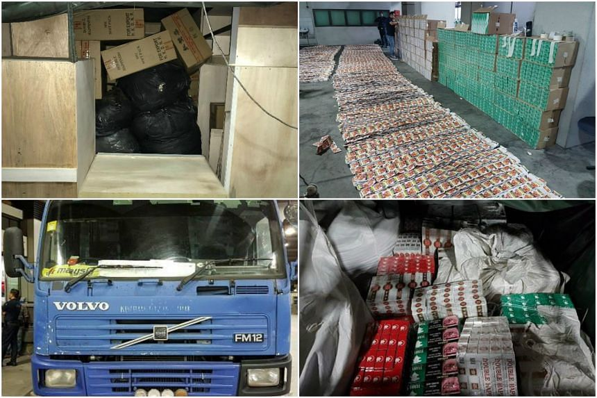 The 750g of chewing tobacco and 6,470 cartons of duty-unpaid cigarettes were seized from two attempts to smuggle them via the Woodlands Checkpoint last Friday (April 21) and Saturday.