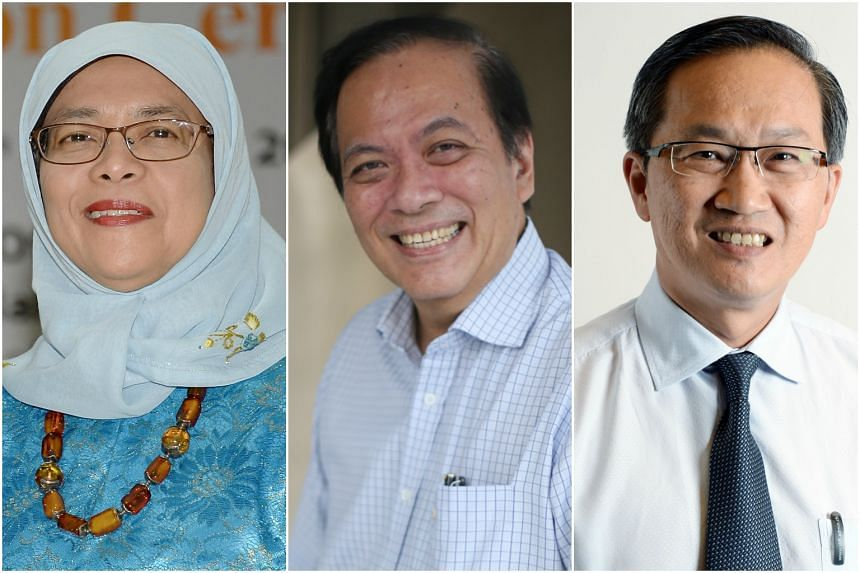 The 10-member committee was chaired by Speaker of Parliament Halimah Yacob, and included her two deputies, Mr Charles Chong (centre) and Mr Lim Biow Chuan.