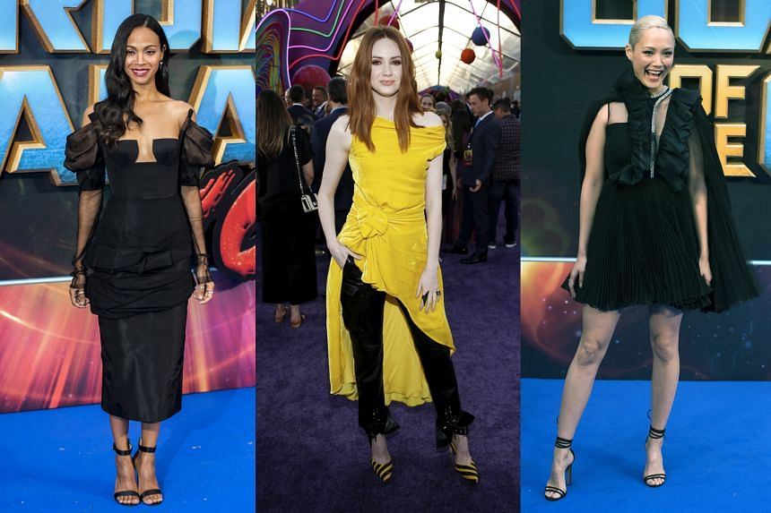 (From left) Zoe Saldana and Karen Gillan star as alien sisters and Pom Klementieff plays an empath named Mantis in the Guardians Of The Galaxy sequel.