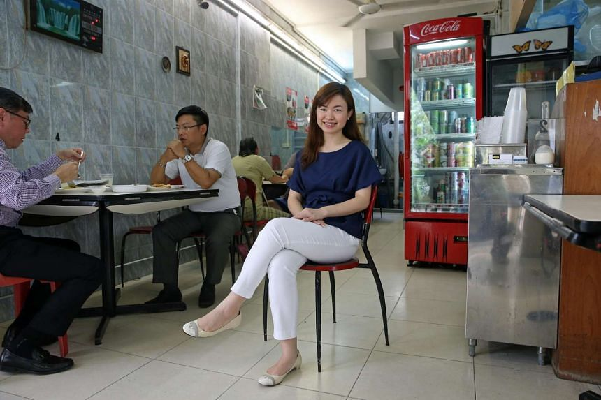 Ms Tin Pei Ling, Member of Parliament for MacPherson, at Hippo Family Restaurant, a zi char restaurant at Block 72 Circuit Road.