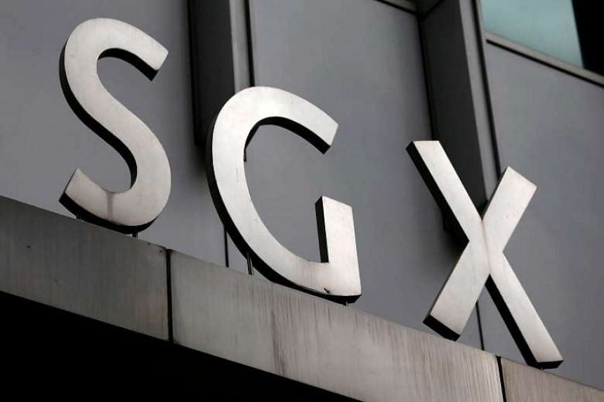 A logo of the Singapore Stock Exchange (SGX) outside its premises in the financial district of Singapore on April 23, 2014.
