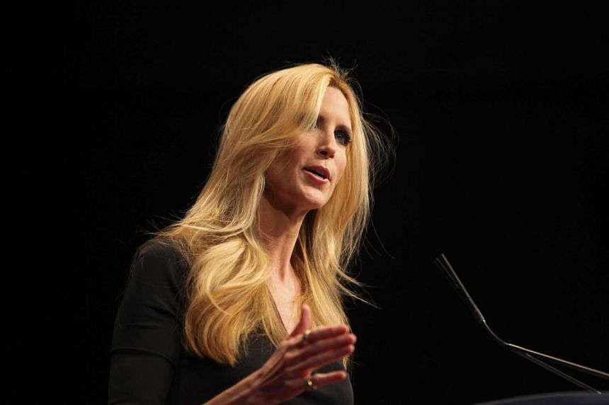 Ann Coulter speaks at a conference in Washington in 2012.