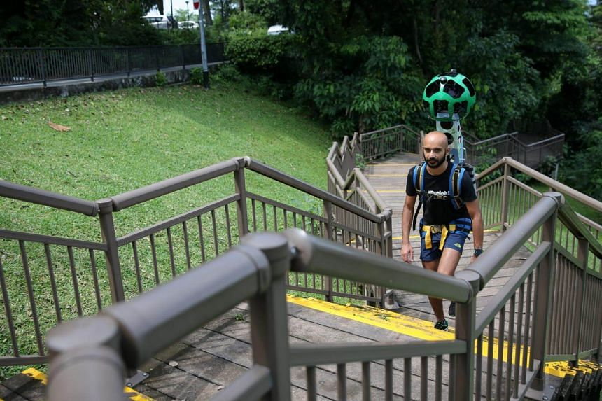 Paviter Singh Jahangir, a runner with JustRunLah!, who has partnered with Google to map out trekking trails in Singapore.