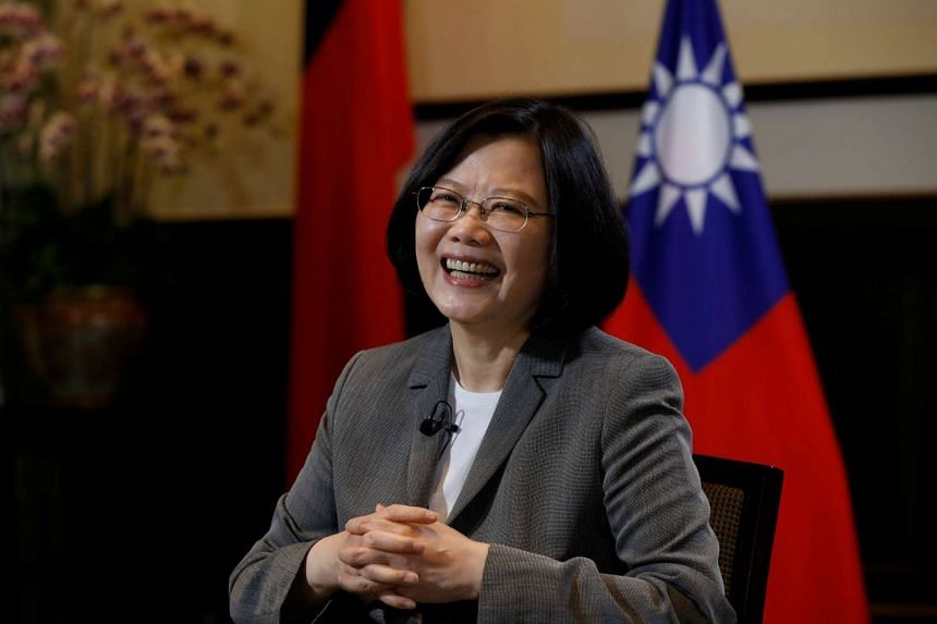 Taiwan President Tsai Ing-wen at the Presidential Office in Taipei, Taiwan on April 27, 2017.