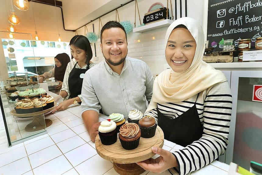 """Fluff Bakery owners Syaira Suhimi and Ashraf Alami hope to introduce new """"Malaysian- themed"""" cupcake flavours."""