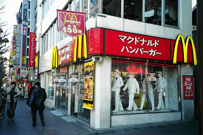 In March, the Japanese unit of McDonald's reported same-store sales rose almost 17 per cent from a year ago, extending its monthly sales growth to 16 consecutive months.