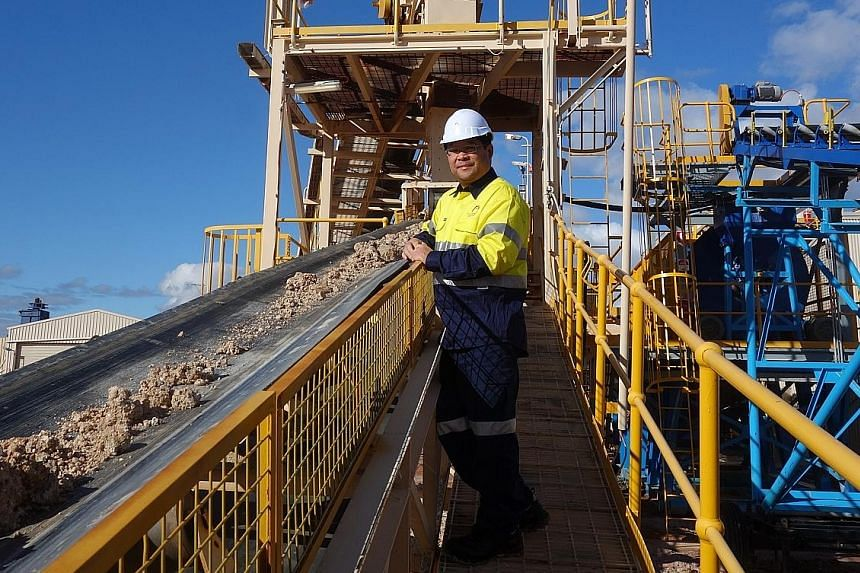Alliance Mineral Assets CEO Tjandra Pramoko at the Bald Hill mine in Western Australia. With its joint venture partner Tawana, Alliance has secured A$25 million (S$26 million) in advance payments from Hong Kong-listed Burwill in exchange for exclusiv