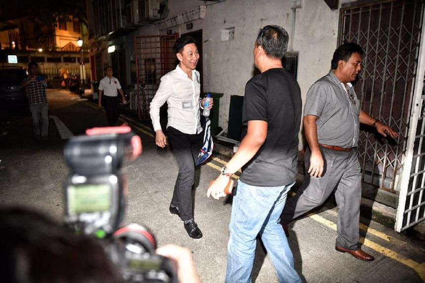 Bill Ng makes his way out of the restaurant after meeting with FAS affiliates on Thursday (April 27).