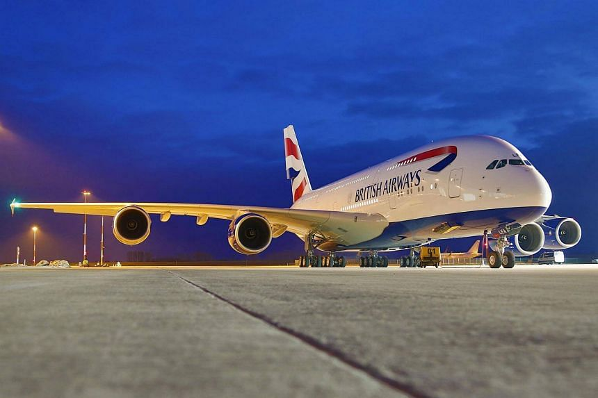 File photo of a grounded A380 British Airways airplane.