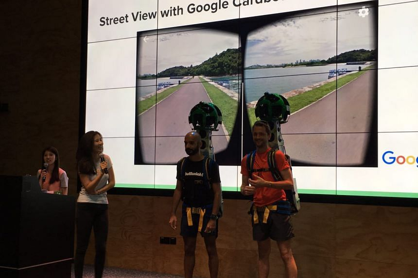The Google Street View Trekker consists of 15 cameras mounted over a mobile computer, with the capability to capture 360-degree images.