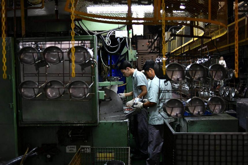 Singapore factory output jumped by a stronger-than-expected 10.2 per cent in March.