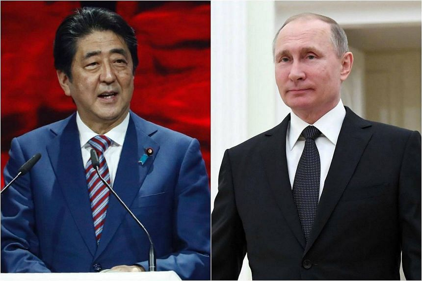 Japanese Prime Minister Shinzo Abe (left) arrives in Moscow today to meet with Russian President Vladimir Putin.