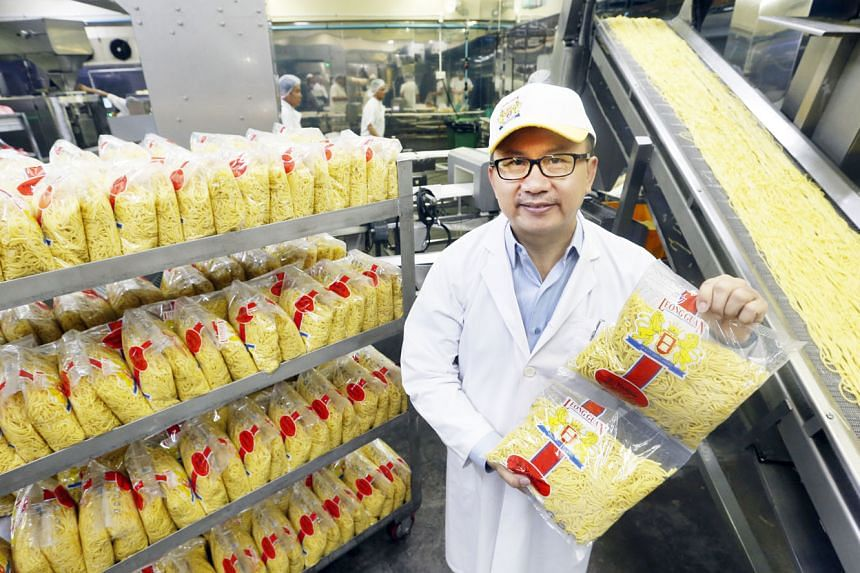 Mr Lim Hock Chai, managing director of noodle maker Leong Guan, says demand was slow when the firm started making healthier wholemeal noodles in 2012. But sales have picked up since then.