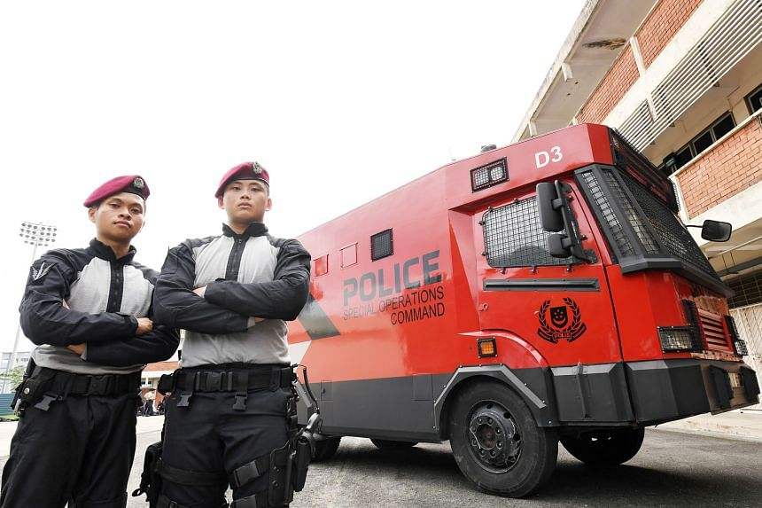 Sergeant 1 Muhammad Khairul Shafeeq Abdul Karim, 20, and Sergeant 1 Wilson Ng, 21, will soon be part of the Police National Servicemen Public Order Troop, a new initiative to beef up manpower resources.