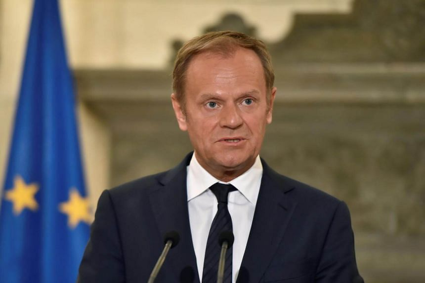 """Former Polish premier Tusk said the """"only possible approach"""" was phased talks in which Britain must make """"sufficient progress"""" on the divorce issues before talks on future relations."""