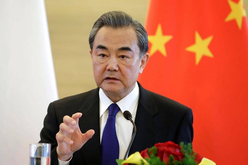 """""""Peaceful settlement of the nuclear issue on the Korean Peninsula through dialogue and negotiations represents the only right choice that is practical and viable,"""" said Chinese Foreign Minister Wang Yi."""