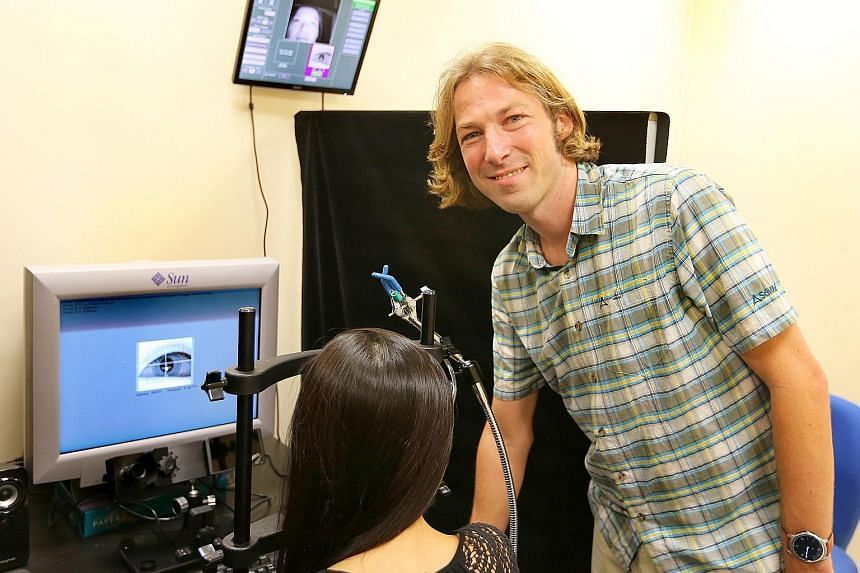 Blinking does more than lubricate your eyes and protect them from irritants, says Assistant Professor Gerrit Maus. When you blink, your eyes move, but the brain compensates by shifting them back to their original position, which keeps the image befor