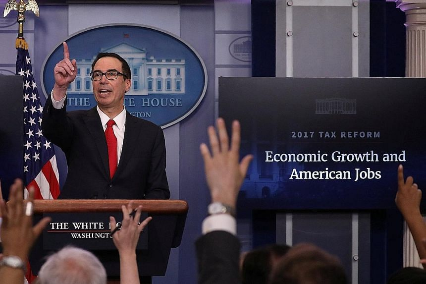 """The plan has """"a massive tax cut for businesses and massive tax reform and simplification"""", US Treasury Secretary Steven Mnuchin announced from the White House on Wednesday."""