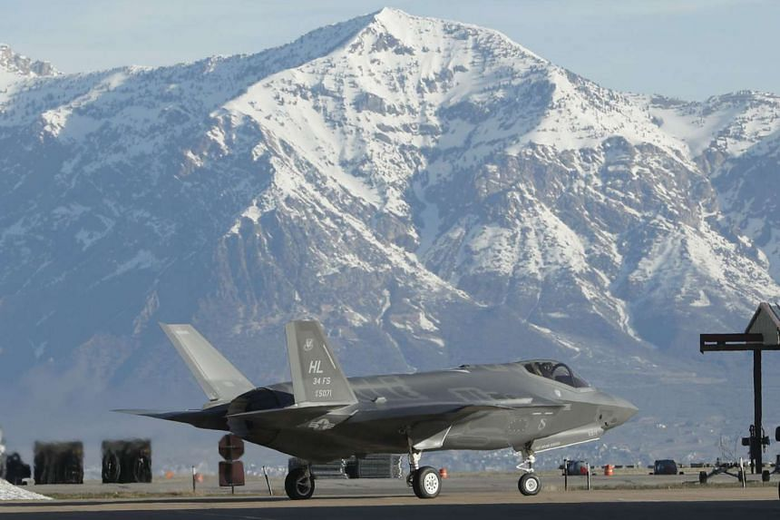 An F-35 fighter jet at Hill Air Force Base in Ogden, Utah.