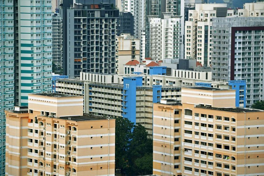 Prices of resale Housing and Development Board flats slipped 0.5 per cent in the first quarter from the previous three months.