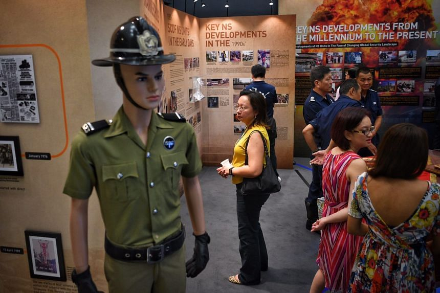 Visitors tour the newly opened SCDF NS Gallery.