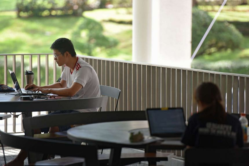 Students studying at the National University of Singapore's (NUS) Central Library.