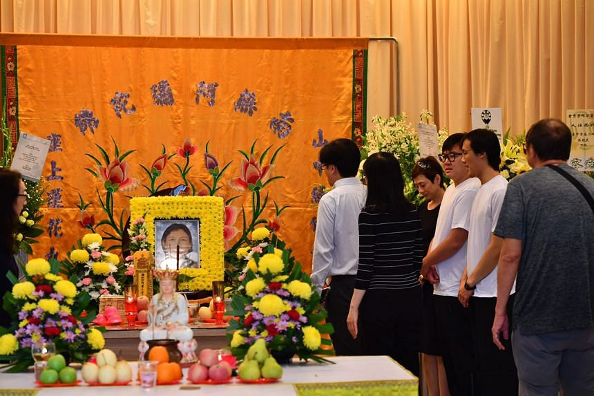 The wake of Mrs Quek-Ng Siew Fong,  senior deputy director at the Ministry of Manpower's foreign manpower management division, at Mount Vernon Parlour 1 on April 28, 2017.