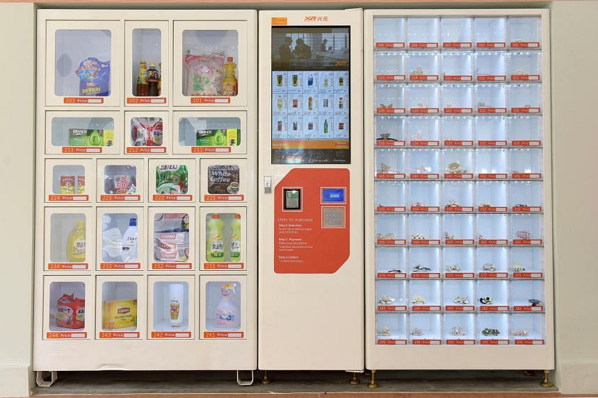 The vending machines dispense items such as ready-to-eat meals, snacks, medical supplies  and knick-knacks.