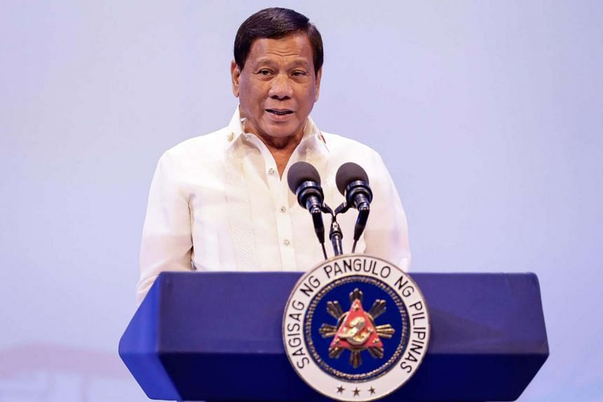 Philippine President Rodrigo Duterte speaks during the opening ceremony of the Association of South East Asian Nations (ASEAN) leaders' summit in Manila on April 29, 2017.