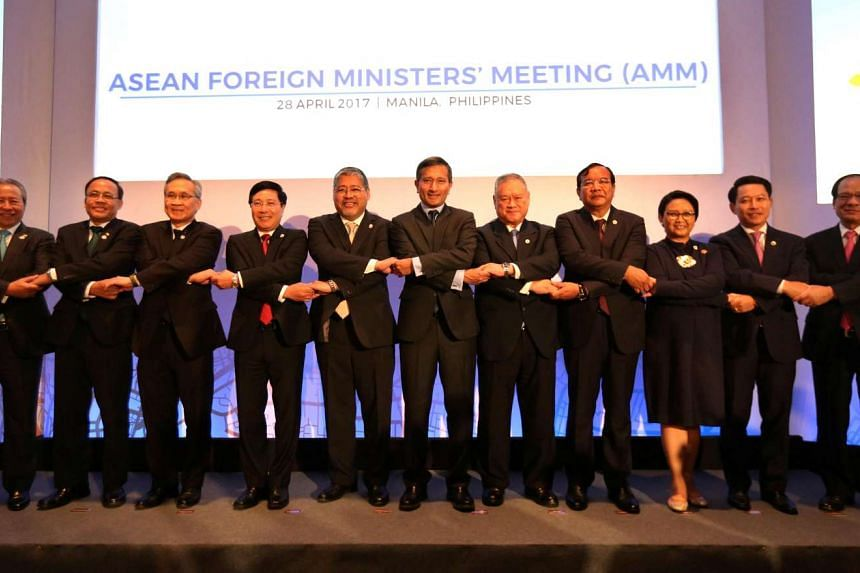 Asean Foreign Minister at a summit in Manila, Philippines.